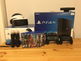 Sony PlayStation 4 Pro + 1TB + 2 controls + 5 games + PS Camera